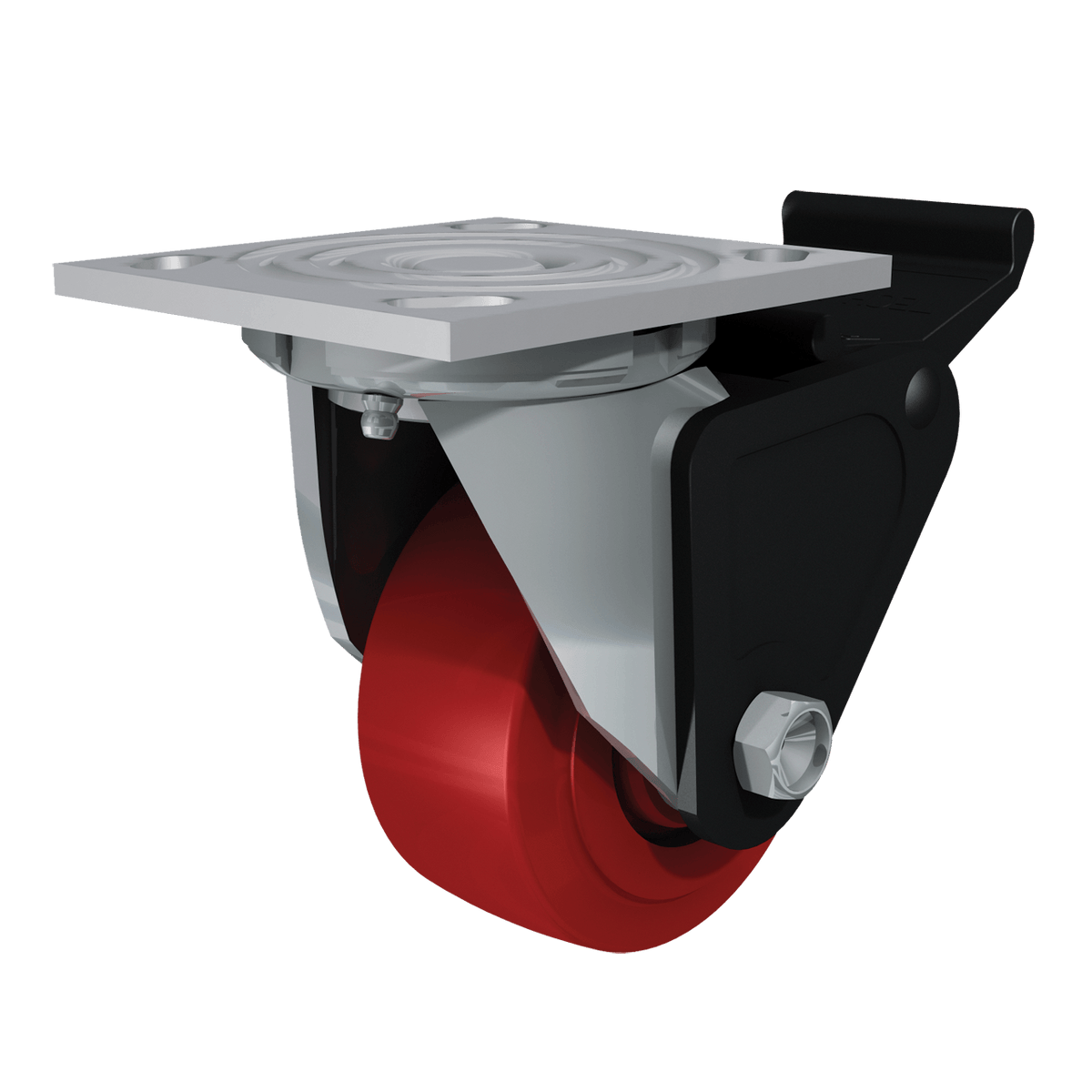 "4"" Poly Hi-Tech Swivel Caster with Brake"