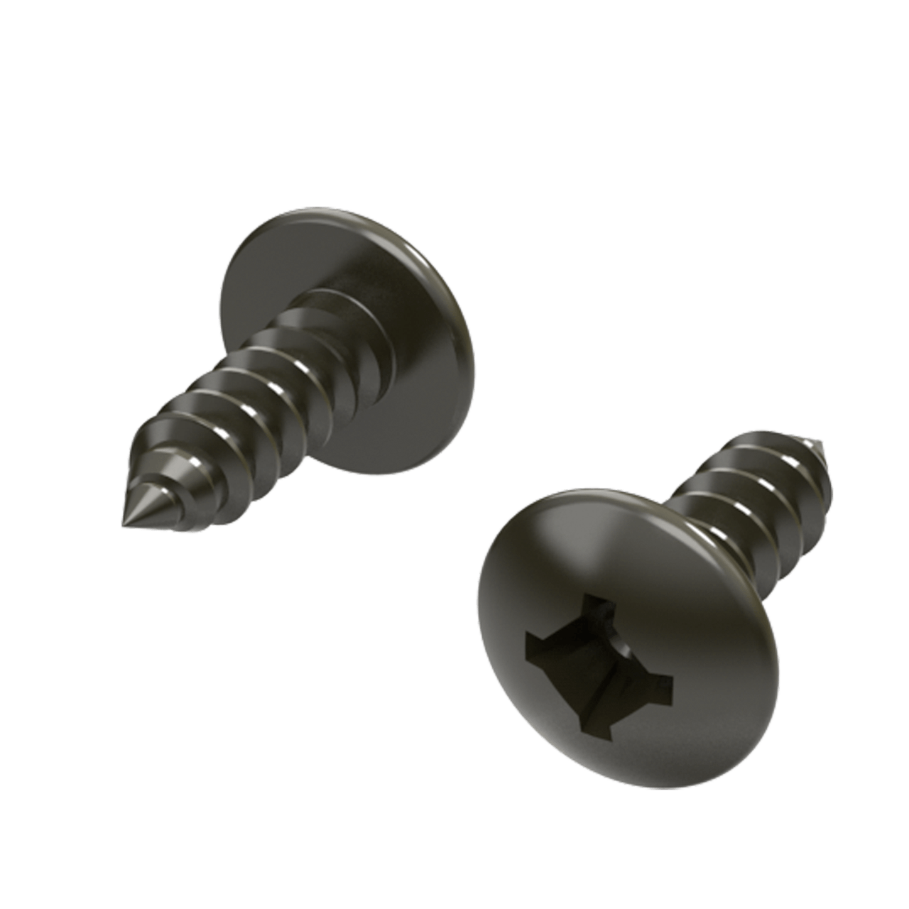 "Quadrex Wood Screw - #8 x 1/2"", 3/4 view"