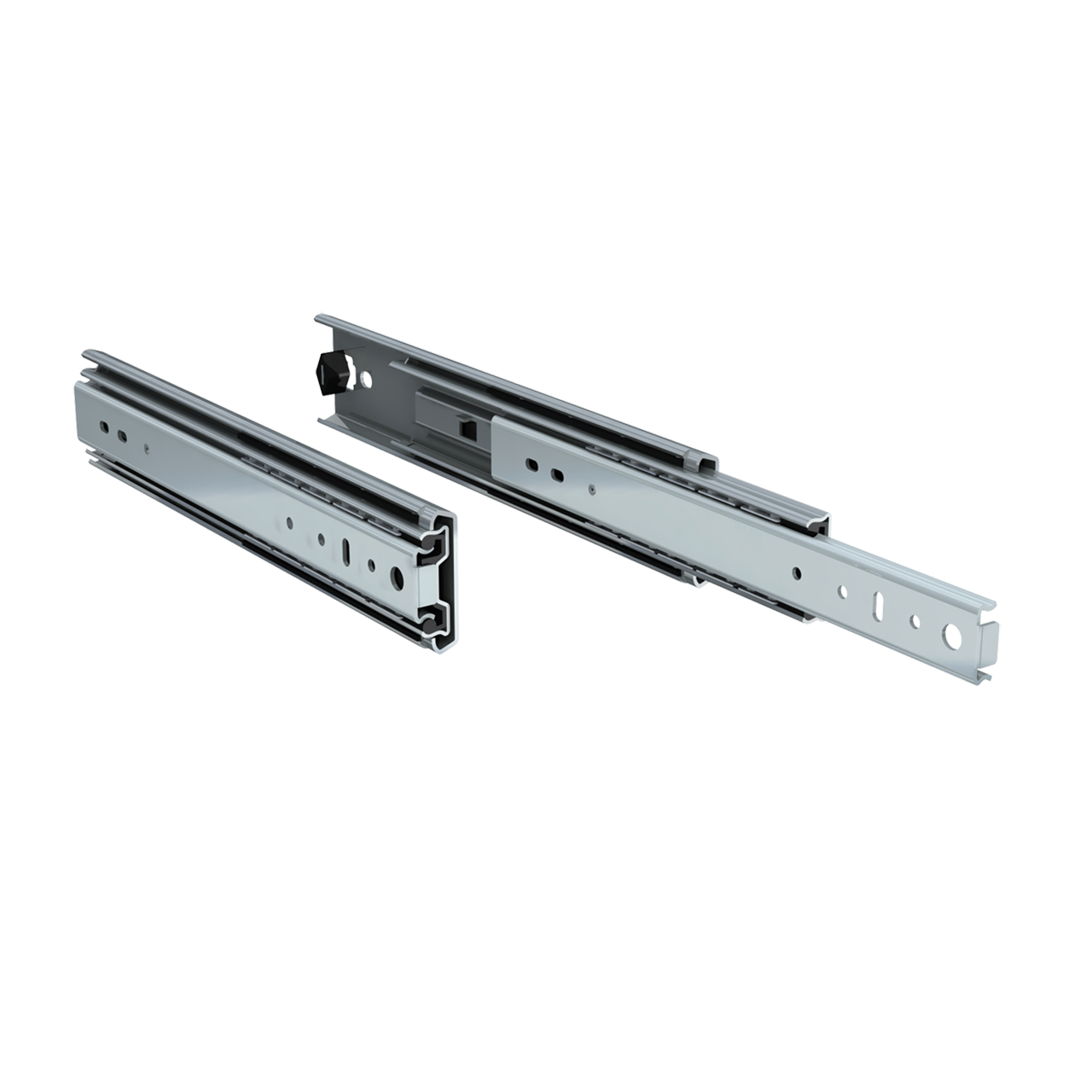"Pair of 12"" 250lbs. full extension drawer slides"