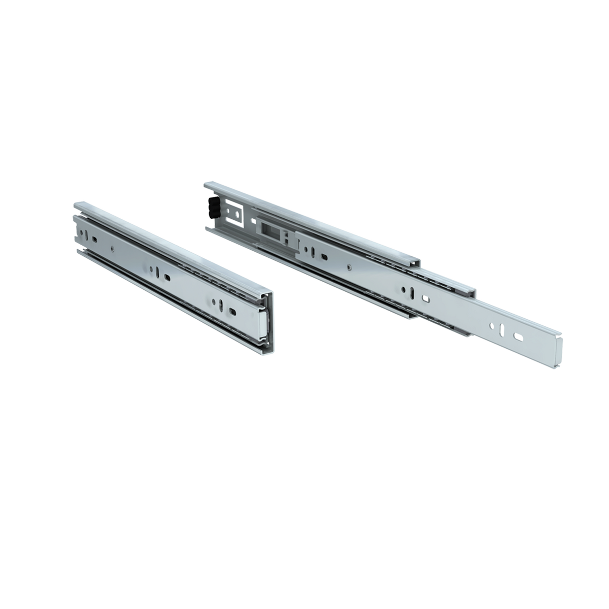 "Pair of 12"" 100 lbs. full extension drawer slides"