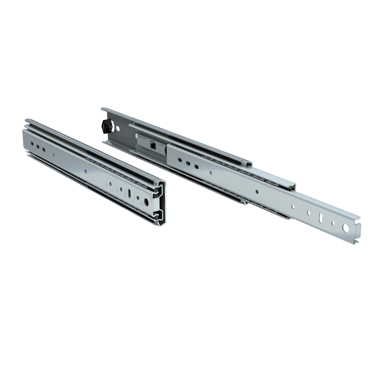 "Pair of 14"" 250lbs. full extension drawer slides"