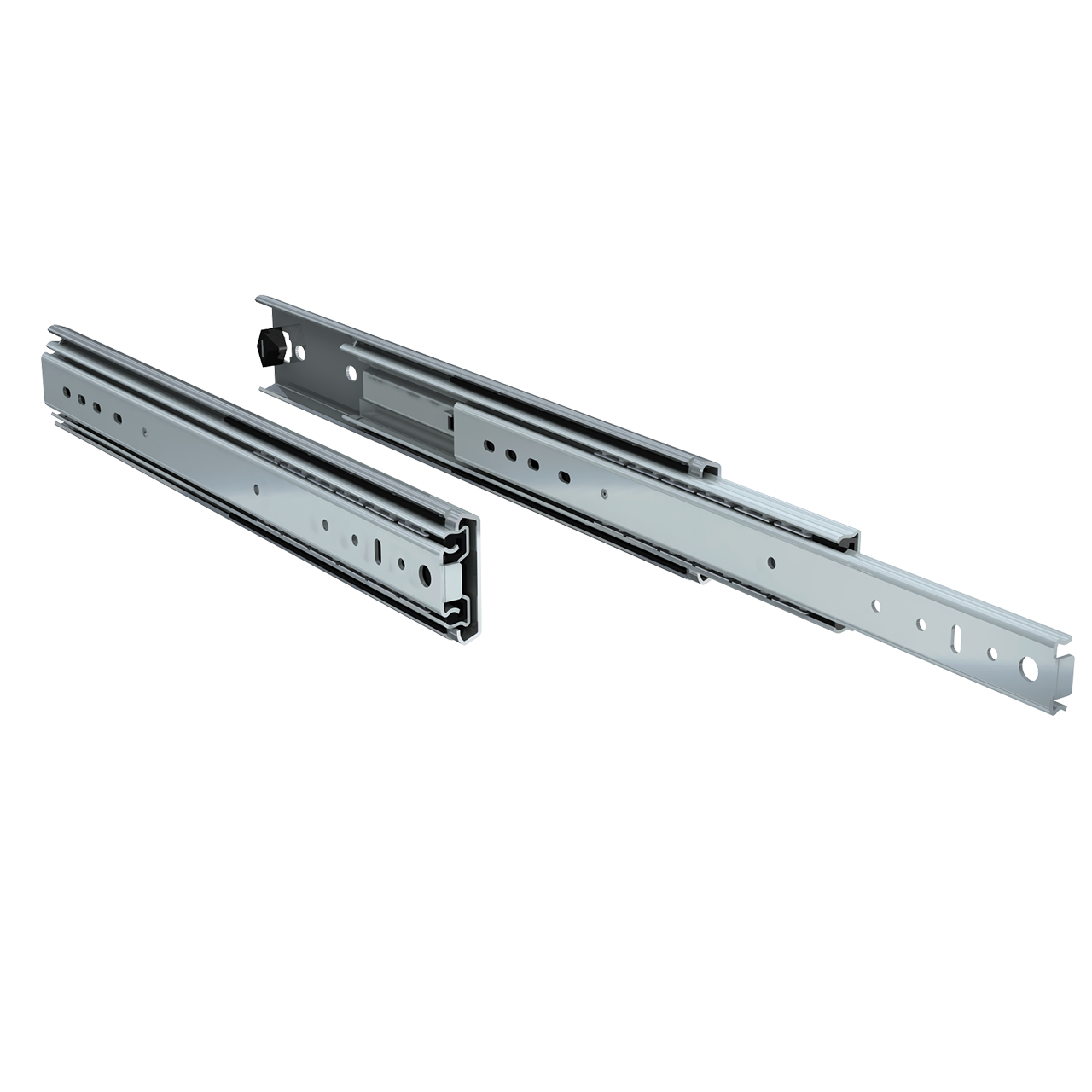 "Pair of 16"" 250lbs. full extension drawer slides"