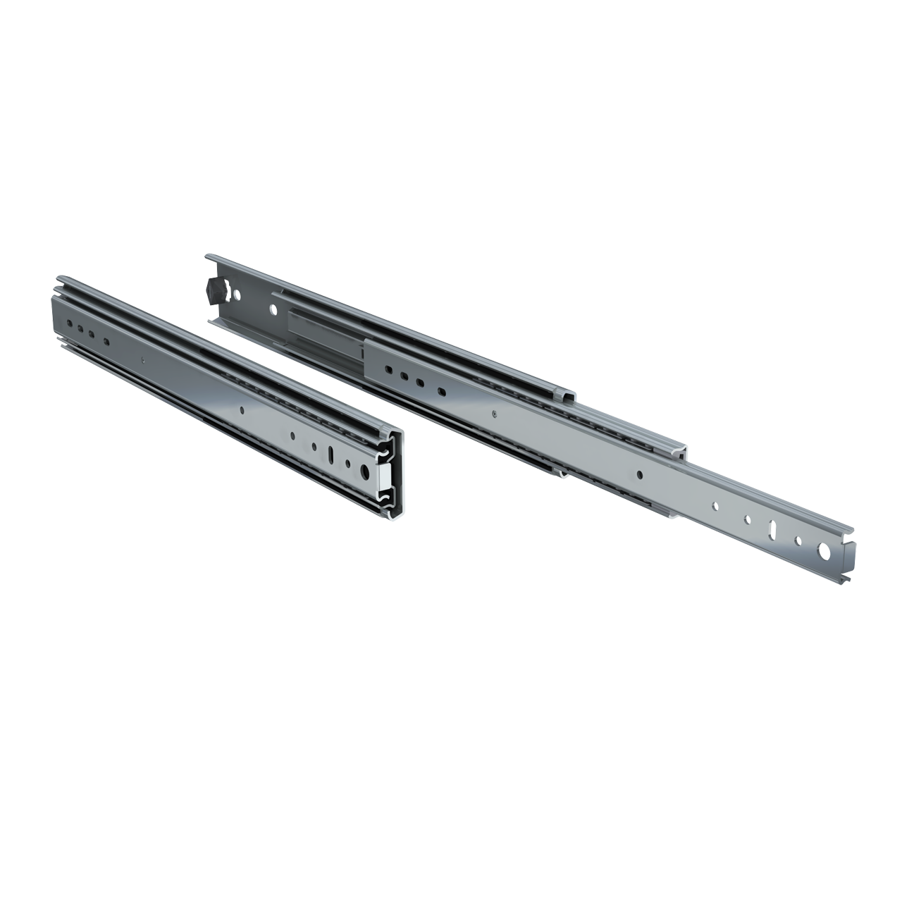 "Pair of 18"" 250lbs. full extension drawer slides"