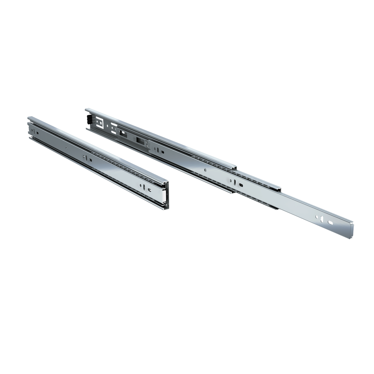 "Pair of 20"" 100 lbs. full extension drawer slides"