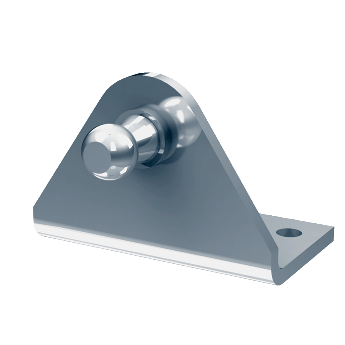 10MM Ball Stud Mounting Bracket, 3-hole Right Angle