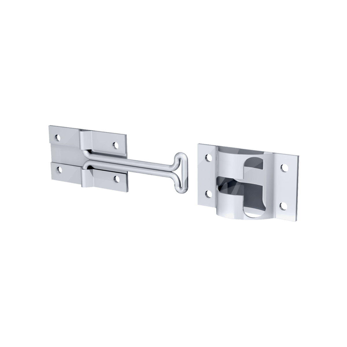 "4"" Door Holdback with Keeper, 3/4 view"