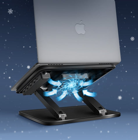 Notebook scatter stand with USB