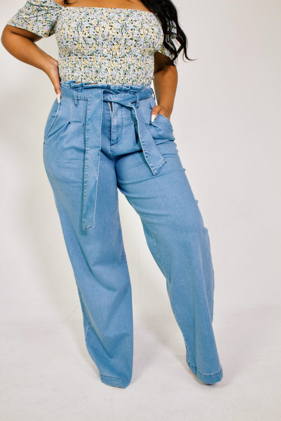 Spring Blues | Flared Pants