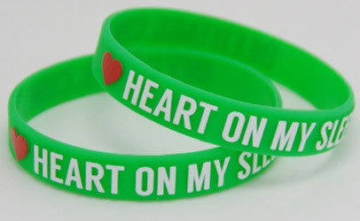 """Heart On My Sleeve"" Silicon Wristband - 5 PACK!"