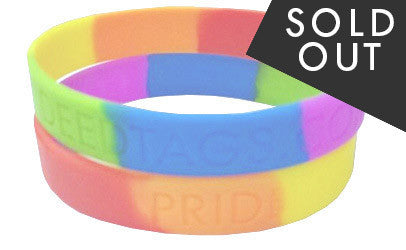 """PRIDE"" Silicon Wristband - 5 PACK!"