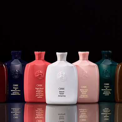 Oribe shampoo hair care.