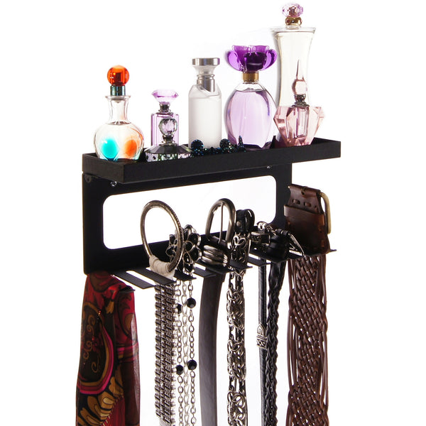 Belt Holder Organizer Wall Mount Closet Storage Rack Arinn Black