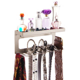 Belt Holder Organizer Wall Mount Closet Storage Rack Arinn Silver
