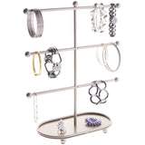 Bracelet Holder Display Stand Hoop Earring Organizer Amy Silver