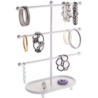 Bracelet Holder Display Stand Hoop Earring Organizer Amy White