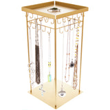 Rotating Jewelry Spinner Necklace Holder Organizer Display Stand, Denise