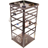Rotating Jewelry Spinner Large Dangle Earring Holder Organizer Stand, Donna