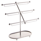 Angelynn's Jewelry Tree Stand Earring Holder Bracelet Display Rack Isabel Silver