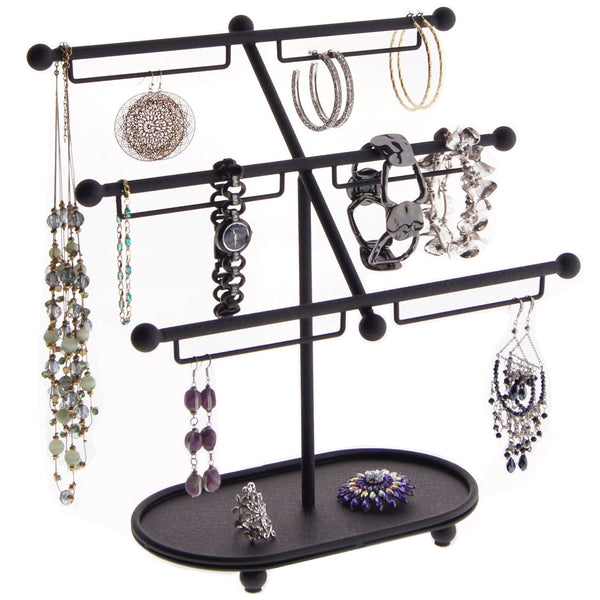 Earring Holder Hoops Bracelet Display Jewelry Stand Isabel Black