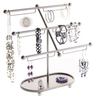 Earring Holder Hoops Bracelet Display Jewelry Stand Isabel Silver
