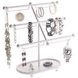Earring Holder Hoops Bracelet Display Jewelry Stand Isabel White