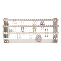 Earring Holder Jewelry Organizer Display Stand Silver Angelynn's