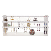 Earring Holder Jewelry Organizer Display Stand White Angelynn's