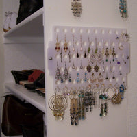 Closet Jewelry Storage Earring Holder Jewelry Organizer Hanging Display Rack