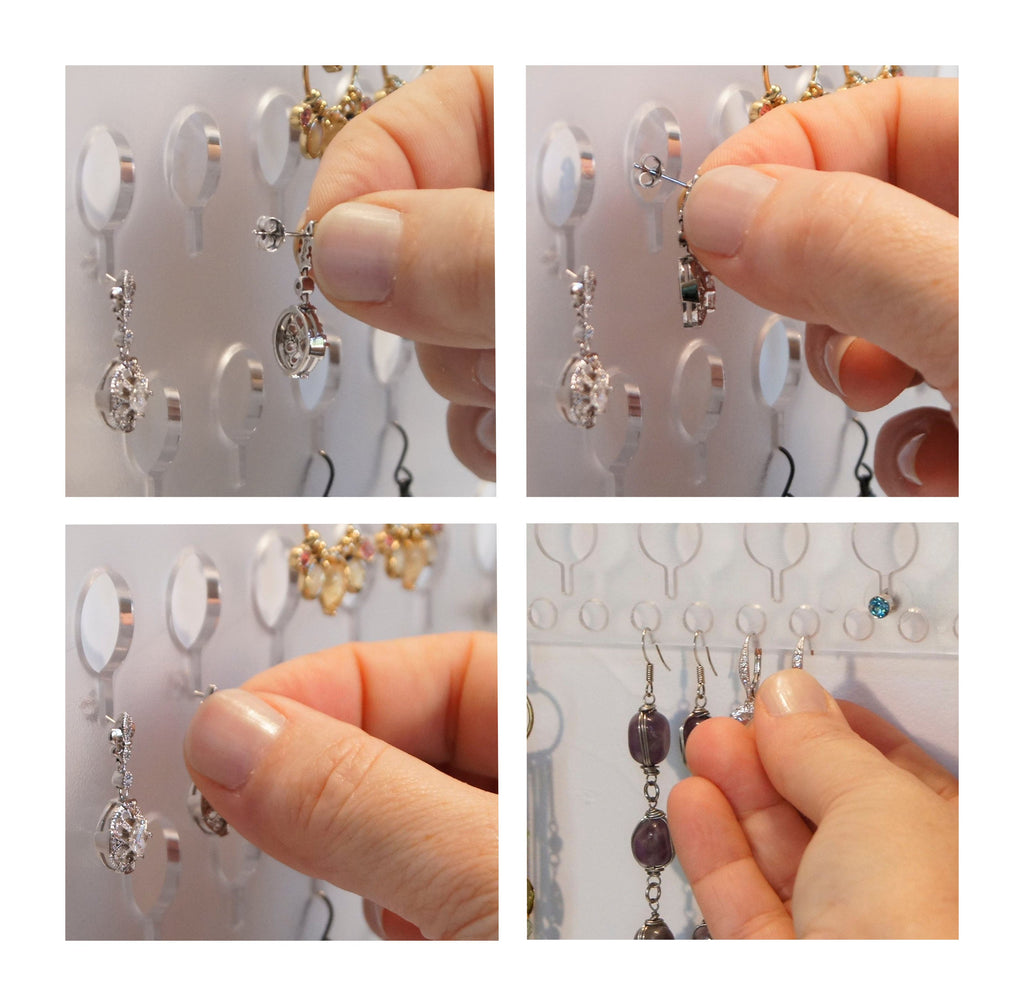 So easy to use, and install.  The very best earring organizer!