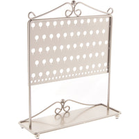 Stud Earring Holder Organizer Display Stand Silver Angelynn's