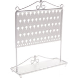 Stud Earring Holder Organizer Display Stand White Angelynn's