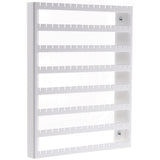 Wall Mount Earring Holder Organizer Closet Jewelry Storage Rack Luka White