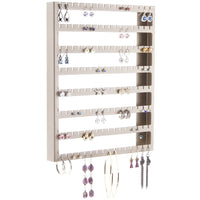 Hanging Earring Holder Organizer Wall Closet Storage Rack Luka Silver