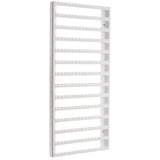 Wall Mount Earring Holder Organizer Closet Jewelry Storage Rack Luka Large White