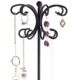Necklace Display Stand Jewelry Holder Organizer Storage Rack Ava Black
