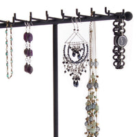Necklace Tree Holder Stand Display Jewelry Organizer Storage Rack Gianna Black
