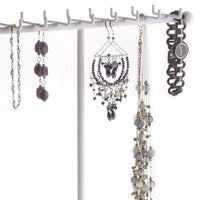 Necklace Tree Holder Stand Display Jewelry Organizer Storage Rack Gianna White