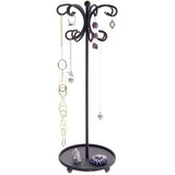 Hanging Necklace Holder Organizer Display Stand Storage Rack Ava Black