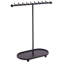 Angelynn's Necklace Display Stand Jewelry Holder Organizer Storage Rack Gianna Black