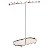 Angelynn's Necklace Display Stand Jewelry Holder Organizer Storage Rack Gianna Silver