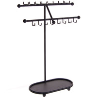 Angelynn's Necklace Display Stand Jewelry Holder Organizer Storage Rack Sharisa Black