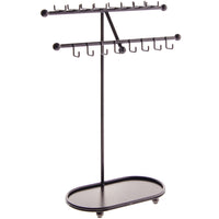 Angelynn's Necklace Display Stand Jewelry Holder Organizer Storage Rack Sharisa Bronze