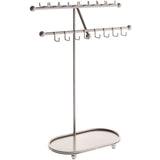 Angelynn's Necklace Display Stand Jewelry Holder Organizer Storage Rack Sharisa Silver