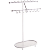 Angelynn's Necklace Display Stand Jewelry Holder Organizer Storage Rack Sharisa White