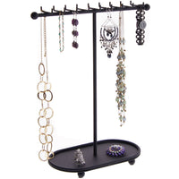 Hanging Necklace Holder Organizer Display Stand Storage Rack Gianna Black