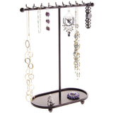 Hanging Necklace Holder Organizer Display Stand Storage Rack Gianna Bronze