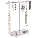 Hanging Necklace Holder Organizer Display Stand Storage Rack Gianna White