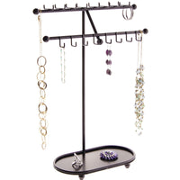 Hanging Necklace Holder Organizer Display Stand Storage Rack Sharisa Bronze