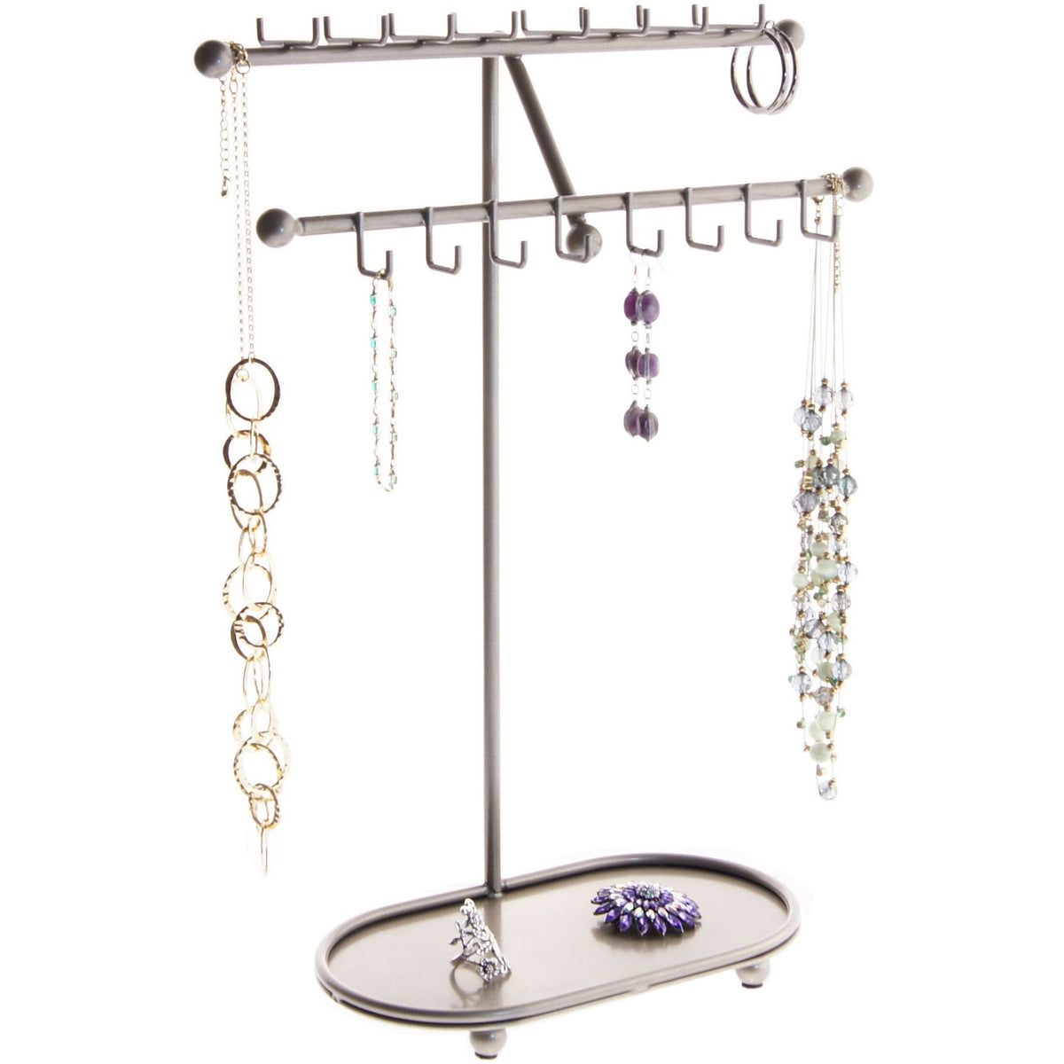 Necklace Holder Display Stand Long Necklace Organizer Rack Angelynn S