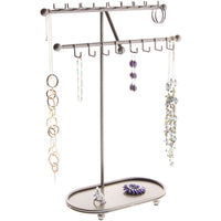 Hanging Necklace Holder Organizer Display Stand Storage Rack Sharisa Silver